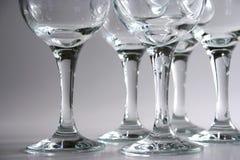 Wine glasses. Closeup on some wine glasses stock photo