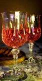 Wine Glasses. Still life photograph of two decorative glasses of wine Stock Photos