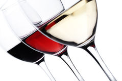 Wine glasses Royalty Free Stock Images