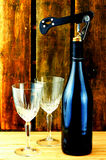 Wine and Glasses Royalty Free Stock Image