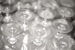 Wine Glasses. Ready to be used during an event Royalty Free Stock Photo