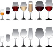 Wine Glasses vector illustration