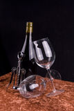 Wine & Glasses royalty free stock photos