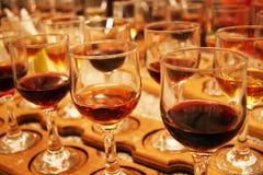 Wine glasses. Set of glasses for wine tasting Stock Photos