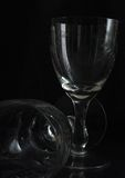 Wine glasses. The wine glasses without wine Stock Image