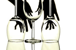 Wine glasses abstract Royalty Free Stock Image