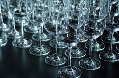 Wine glasses abstract background Stock Photography