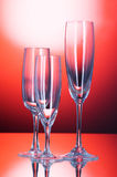 Wine glasses against background Royalty Free Stock Photography