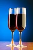 Wine glasses against background Stock Image