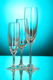 Wine glasses against  background Stock Photo
