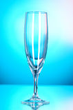 Wine glasses against blue background Stock Photo