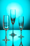 Wine glasses against colourful Royalty Free Stock Images