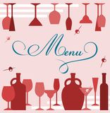 Wine glasses anf goblets Stock Photos