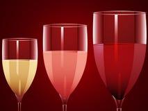 Wine glasses background Royalty Free Stock Image