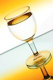 Wine glasses in backlight Royalty Free Stock Photos
