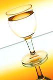 Wine glasses in backlight Royalty Free Stock Photography