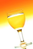 Wine glasses in backlight Royalty Free Stock Image