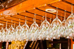 Wine glasses in a bar Stock Photography