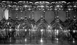 Wine glasses in a bar Royalty Free Stock Photo