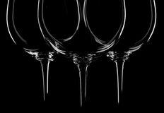 Wine glasses on black stock photos