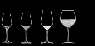 Wine glasses. On black background Royalty Free Stock Image