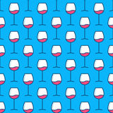 Wine glasses blue pattern Stock Photography