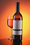 Wine in glasses and a bottle Royalty Free Stock Photography