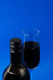 Wine glasses and bottle Stock Photography