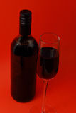 Wine glasses and bottle Royalty Free Stock Images