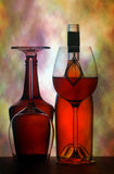 Wine Glasses & bottles background Royalty Free Stock Photography