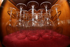 Wine glasses cabinet Royalty Free Stock Image