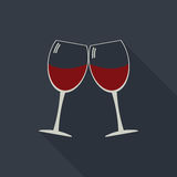 Wine glasses clink glasses icon Royalty Free Stock Photo