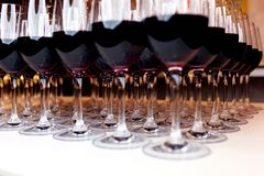Wine glasses with wine Royalty Free Stock Photo