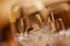 Wine glasses close up Stock Photo