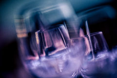 Wine glasses close up Stock Images