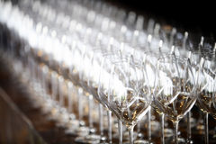 Wine glasses. Color detail of some empty wine glasses Royalty Free Stock Photo