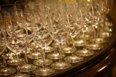 Wine glasses. Color detail of some empty wine glasses Royalty Free Stock Photos