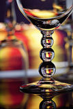Wine glasses with colorful background royalty free stock photos