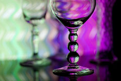 Wine glasses with colorful background Royalty Free Stock Photo