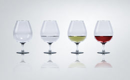 Wine in glasses Royalty Free Stock Image