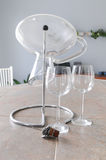Wine glasses and decanter Royalty Free Stock Photography