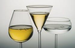 Wine. Glasses before dinner drinks vodka Royalty Free Stock Image