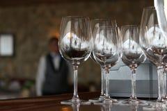 Wine glasses empty Stock Photos