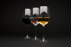 Wine glasses with a fish Royalty Free Stock Photos