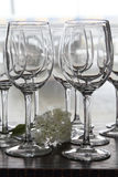 Wine glasses with flower Royalty Free Stock Image