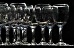 Wine glasses in a glitzy party Royalty Free Stock Photos