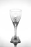 Wine glasses on glossy table surface Stock Photos