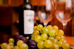 Wine in the glasses Stock Photography
