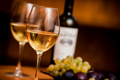 Wine in the glasses Royalty Free Stock Photo