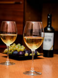 Wine in the glasses Royalty Free Stock Photography